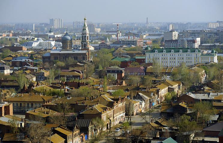 Вид на Астрахань с высоты