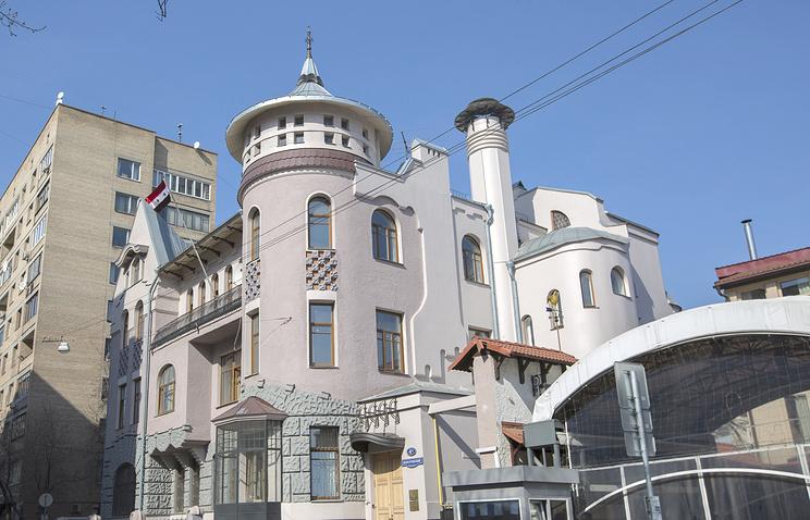 Здание посольства Сирии в Москве