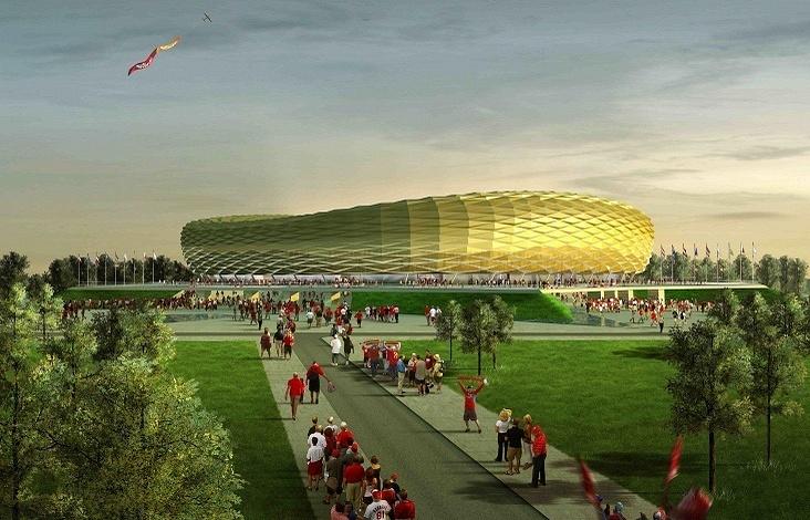 Макет стадиона в Калининграде