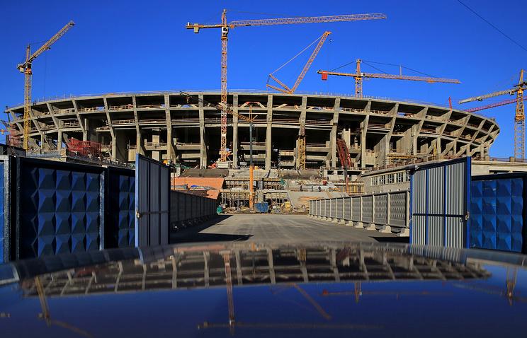 """Строительные работы на стадионе """"Зенит-Арена"""""""