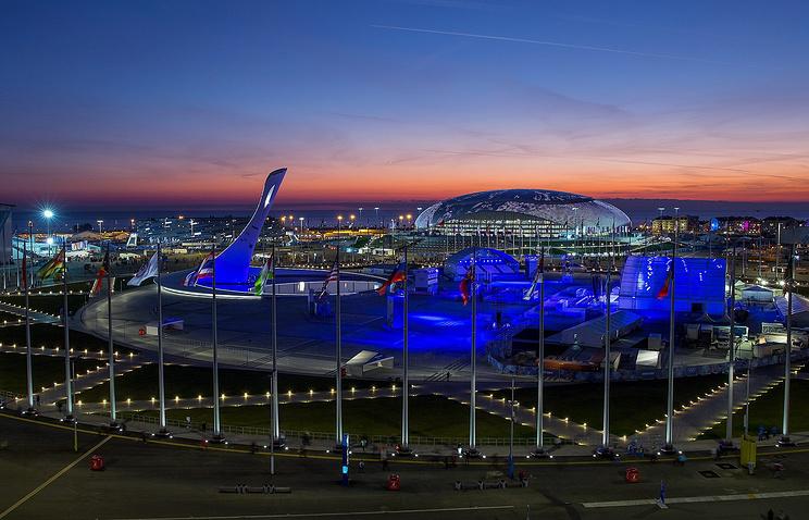 Олимпийский парк и Большой ледовый дворец в Сочи