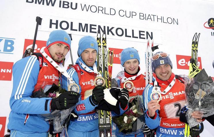 Биатлонисты сборной России