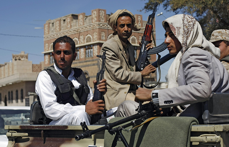 Шиитские мятежники-хоуситы в Сане