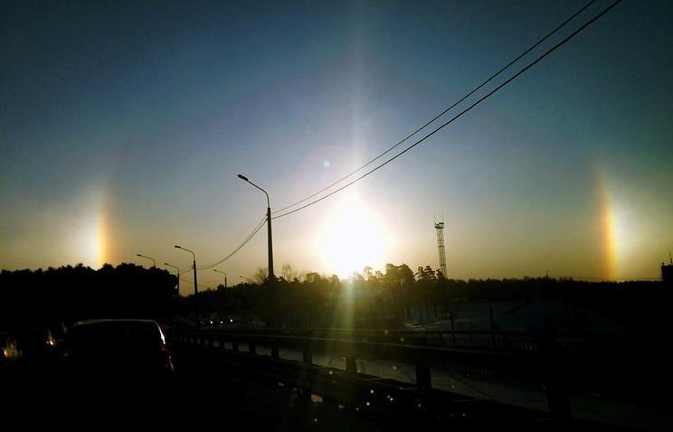 Гало в небе над Челябинском