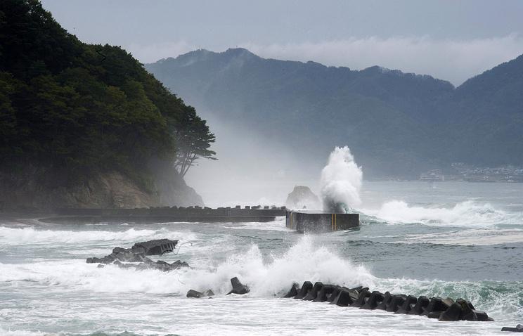 Береговая линия  в префектуре Ивате на северо-востоке Японии после цунами и землятресения, сентябрь 2011 года