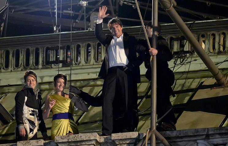 """Том Круз на съемках фильма """"Миссия невыполнима 5"""" в Вене"""