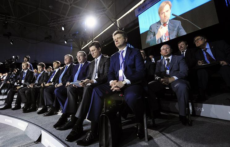Красноярский экономический форум. На переднем плане - Максим Соколов