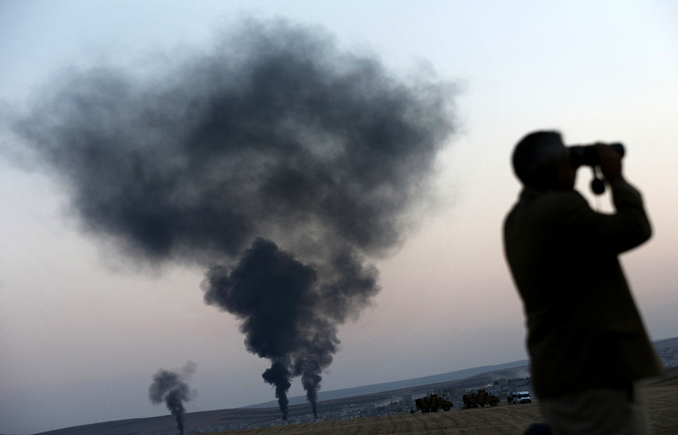 """Авиаудар по группировке """"Исламское государство"""" в Сирии"""