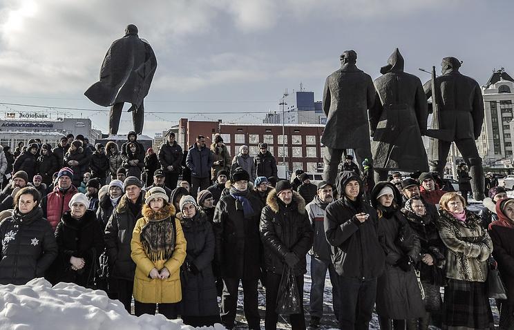 """Митинг против оперы """"Тангейзер"""" в Новосибирске"""