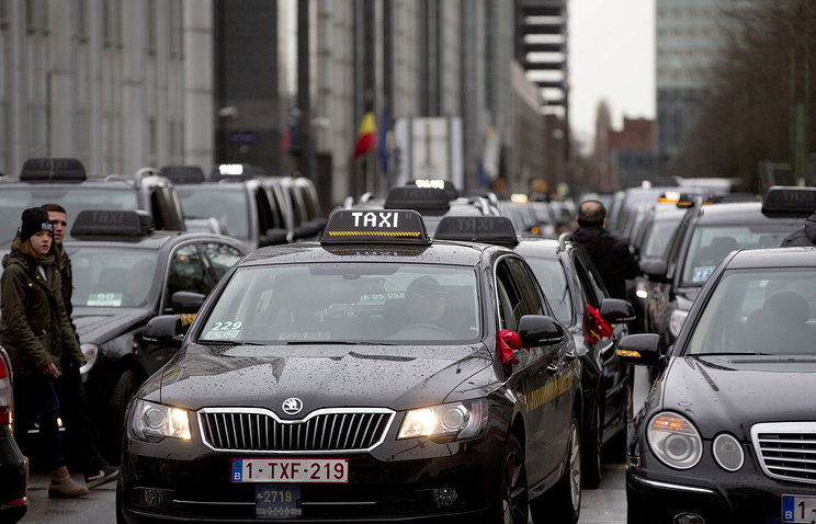 Забастовка водителей такси в Брюсселе
