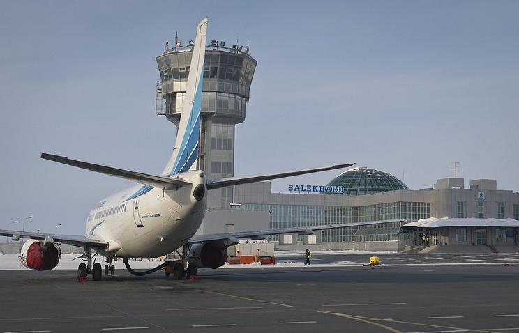 """Вид аэропорта """"Салехард"""""""