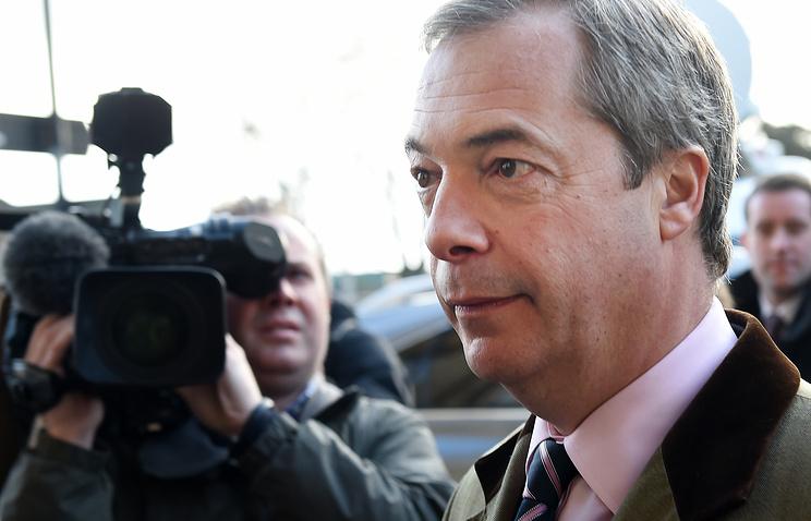 Лидер Партии независимости Соединенного Королевства Найджел Фараж