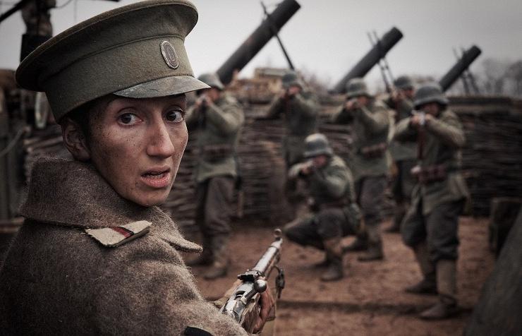 "Кадр из фильма ""Батальонъ"""