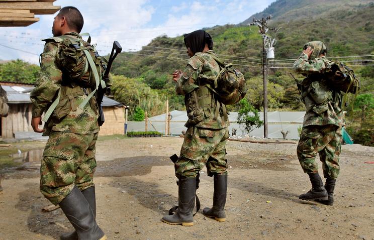 Повстанцы Революционных вооруженных сил Колумбии