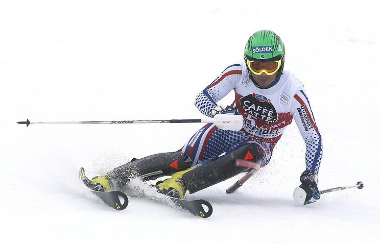 Александр Хорошилов на финальном этапе Кубка мира в Марибеле