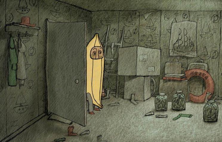 """Кадр из мультфильма """"Почему банан огрызается"""""""