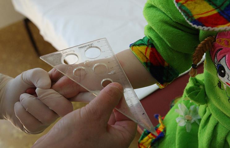 Оценка туберкулиновой пробы Манту у ребенка
