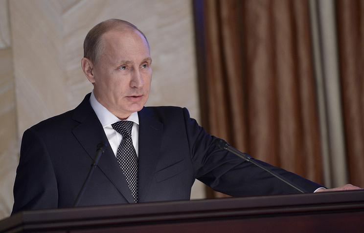 Президент РФ Владимир Путин на заседании коллегии ФСБ