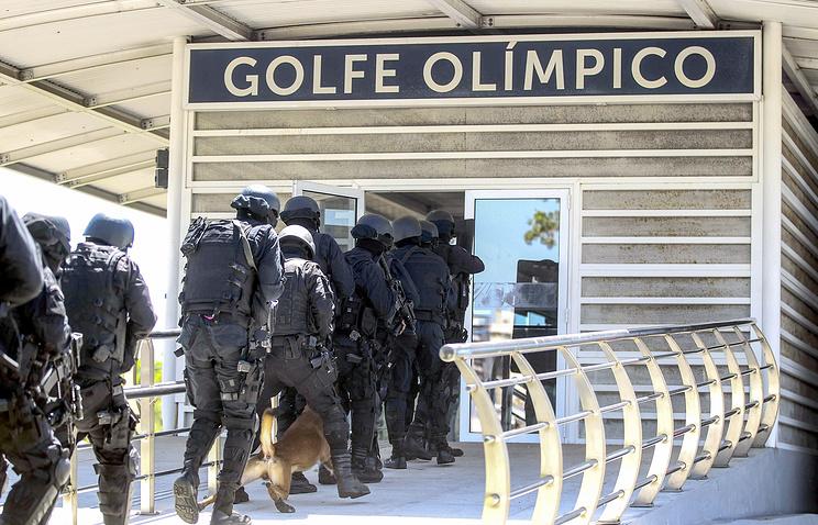 Учения военной полиции в Рио-де-Жанейро в преддверии Олимпийских игр-2016