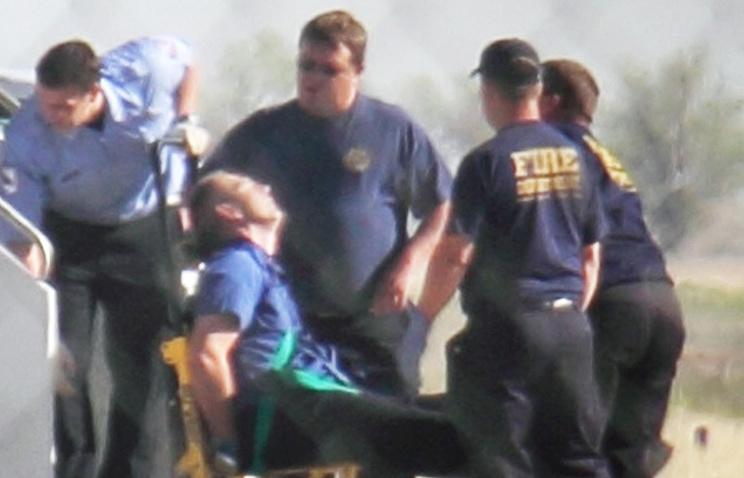 Клейтон Осбон после инцидента в аэропорту Техаса, 27 марта 2012 года