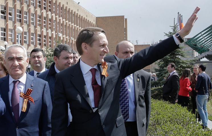 Сергей Нарышкин (в центре)