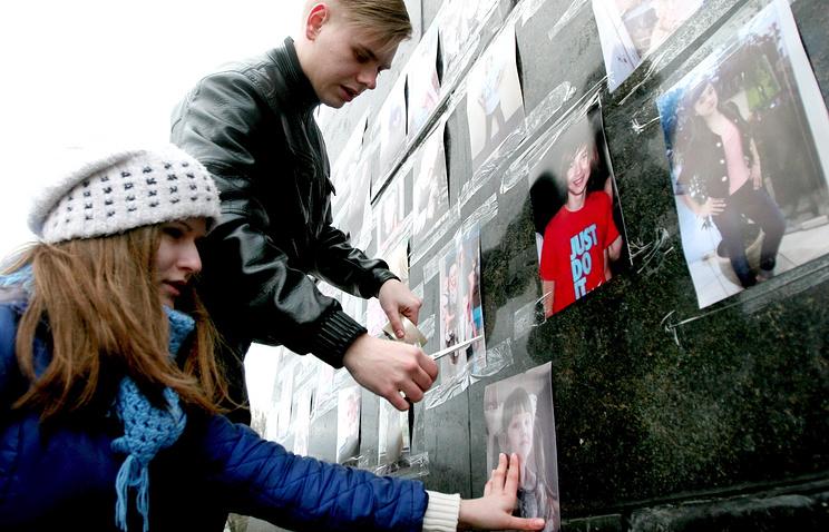 """На митинге-реквиеме """"Прерванный полет..."""" памяти детей, погибших на Донбассе"""