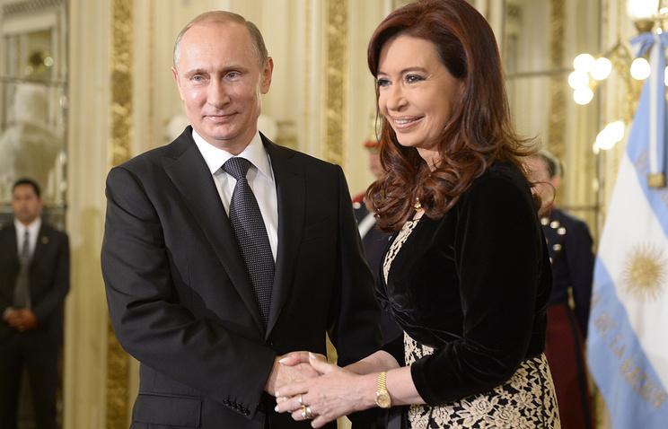 Владимир Путин и Кристина Фернандес де Киршнер
