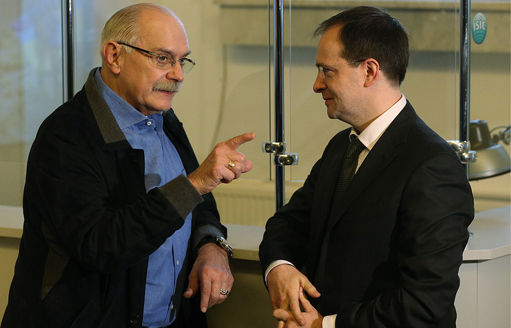Никита Михалков и министр культуры РФ Владимир Мединский