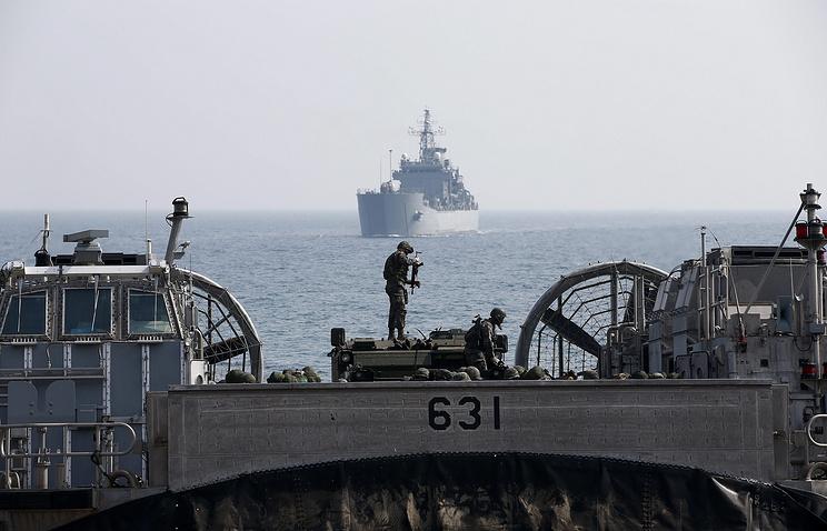 Совместные военные учения США и Южной Кореи в Пхохане