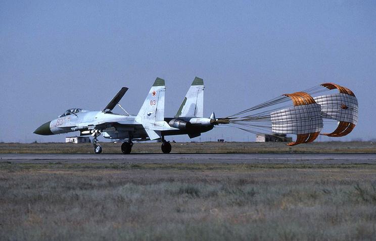 На территории летно-испытательного центра ВВС РФ в Ахтубинске
