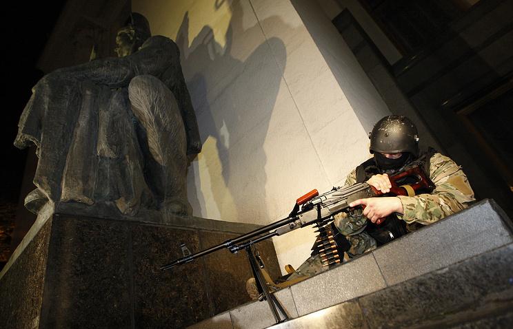 Во время тактико-специальных учений государственной охраны Украины, 01 мая 2014 года