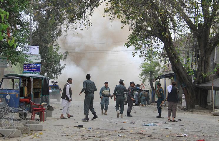 На месте теракта в городе Джелалабаде