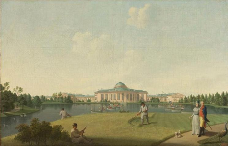 Бенджамен Петерсен. Садовый фасад Таврического дворца. Конец 18 века, Эрмитаж