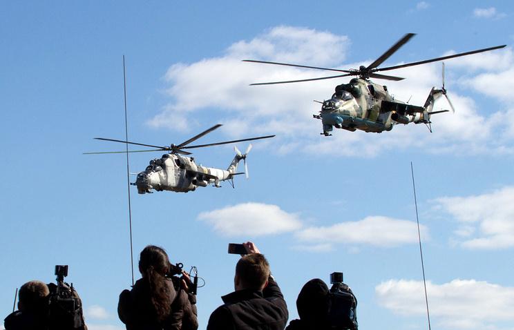 Ударные вертолеты Ми-24
