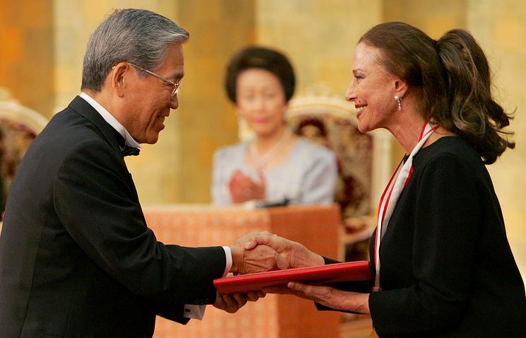Вручение Майе Плисецкой Международной Императорской премии Японии Premium Imperial, 2006 год