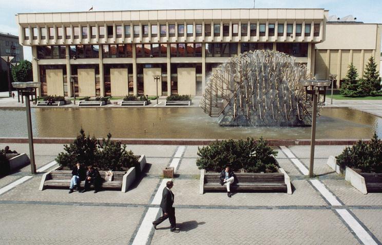 Вид на здание парламента Литвы