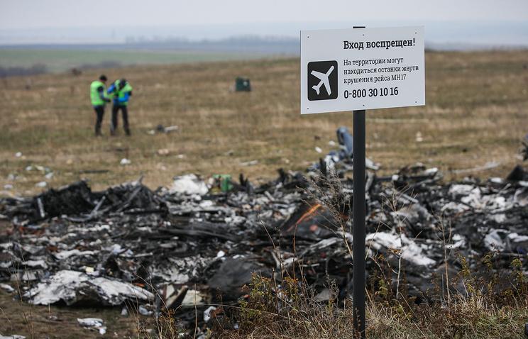 На месте падения малазийского самолета Boeing 777 в Донецкой области