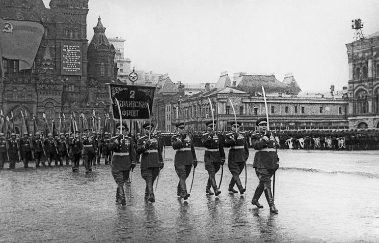Парад Победы на Красной площади в Москве, 24 июня 1945 года