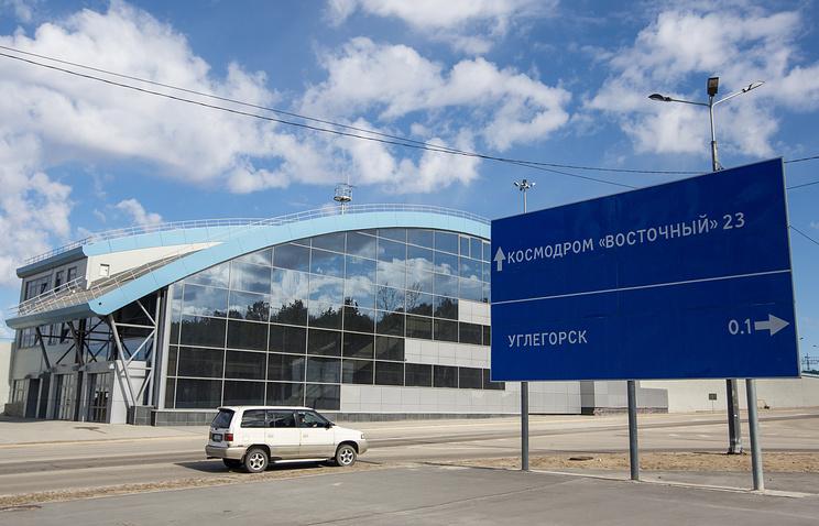 """Здание железнодорожного вокзала поселка Углегорск, построенного в рамках строительства космодрома """"Восточный"""""""