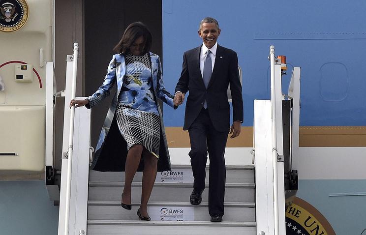 Барак и Мишель Обама во время визита в Индию