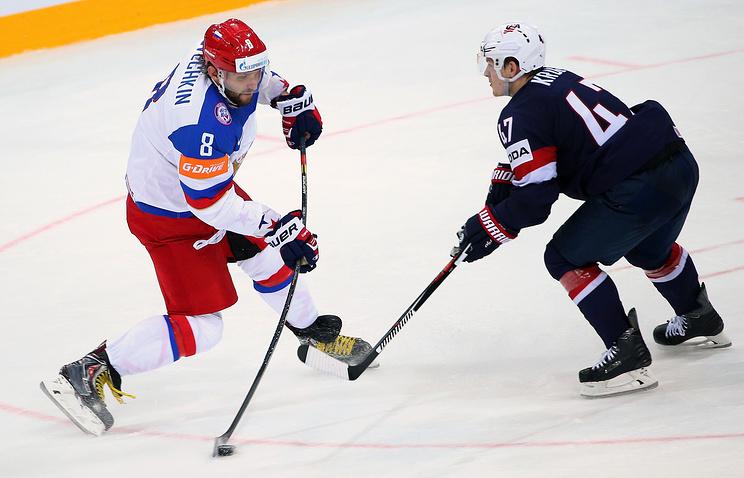 Эпизод из матча ЧМ-2015 между сборными России и США
