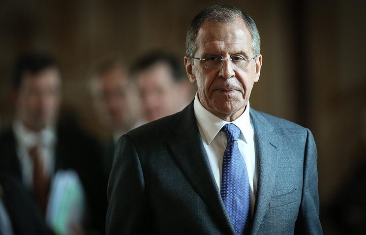 Vинистр иностранных дел России Сергей Лавров