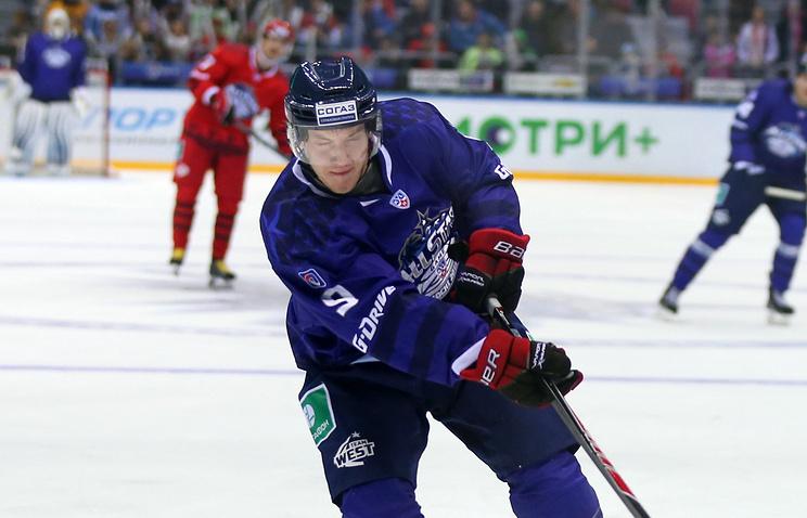 Дмитрий Кагарлицкий во время Матча всех звезд КХЛ