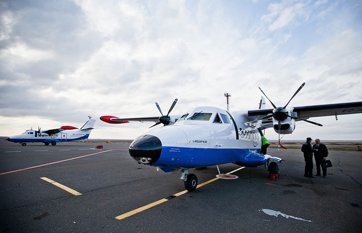 Пассажирские самолеты L-410, которые будут оснащены лыжными шасси