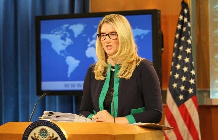 И.о. начальника пресс-службы госдепартамента США Мари Харф