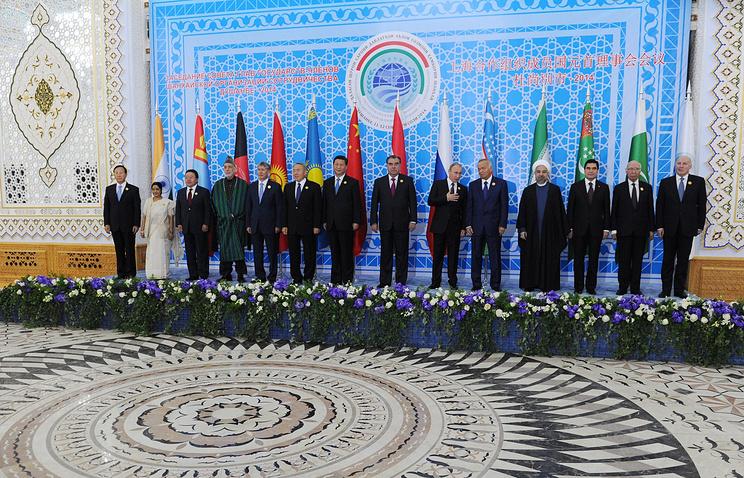 Во время саммита ШОС, 2014 год