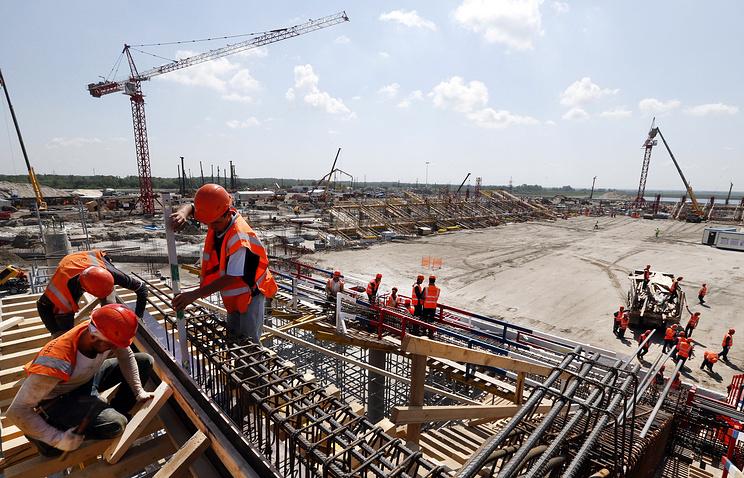 Строительство стадиона к чемпионату мира по футболу в 2018 году в Ростове-на-Дону
