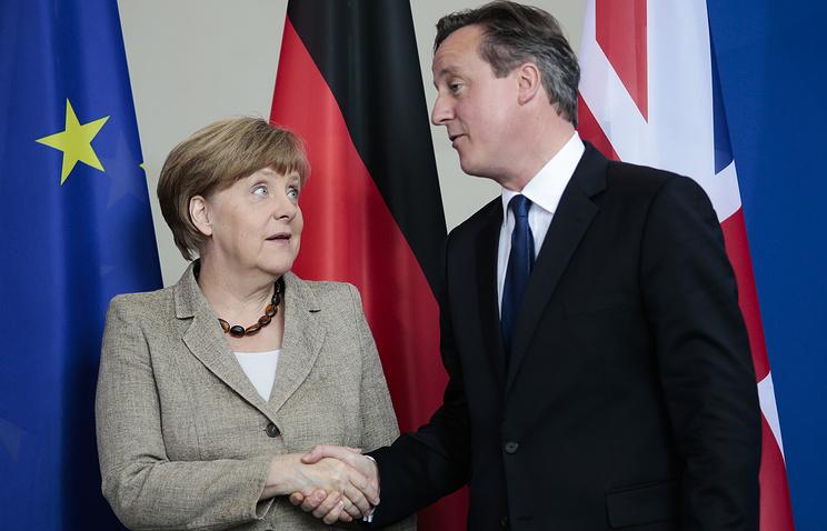 Канцлер Германии Ангела Меркель и премьер-министр Великобритании Дэвид Кэмерон