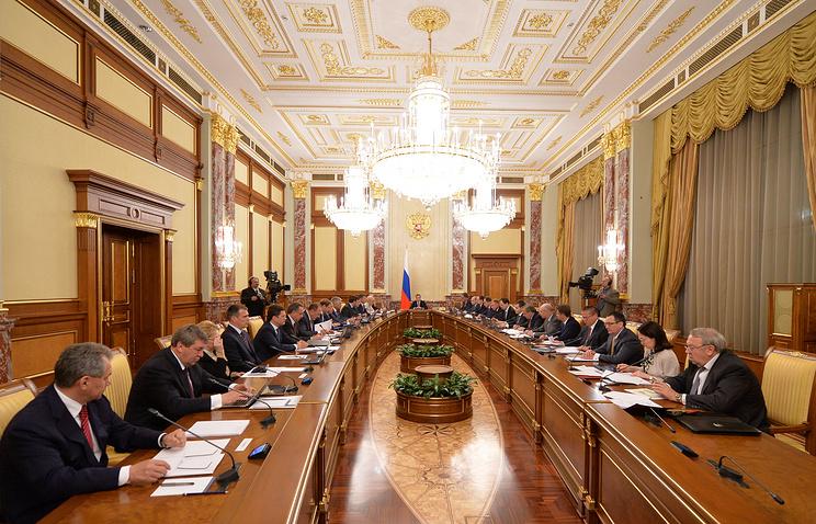 Во время заседания кабинета министров РФ