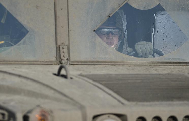Военнослужащий США во время учений